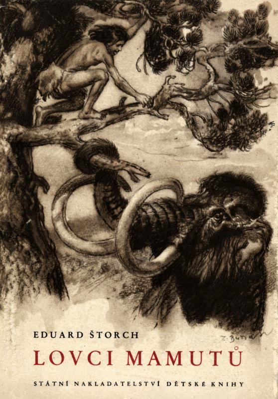 Burianova obálka k Lovcům mamutů