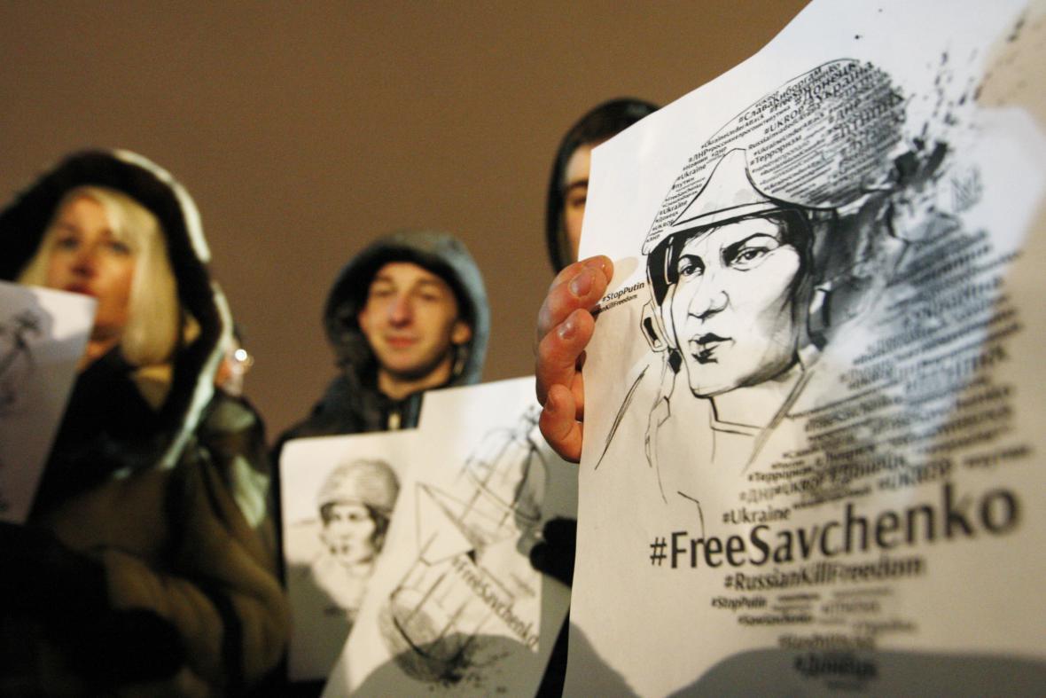 Manifestace na podporu Savčenkové