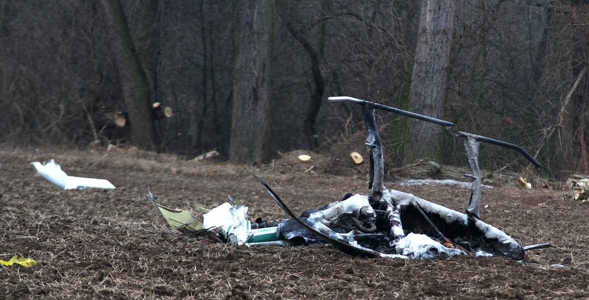 Zbytky vrtulníku