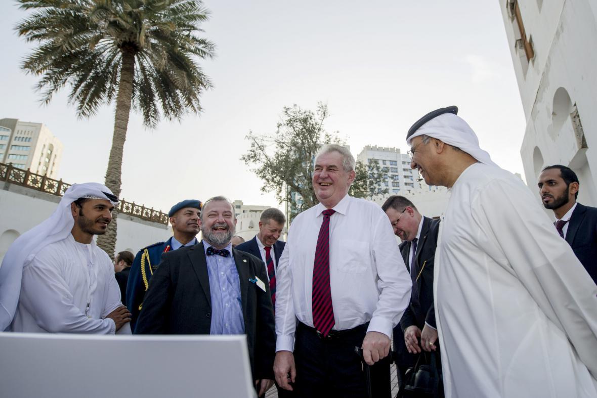 Miloš Zeman na návštěv ve Spojených arabských emirátech