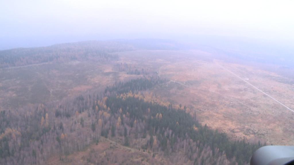 Brdy - pohled z vrtulníku