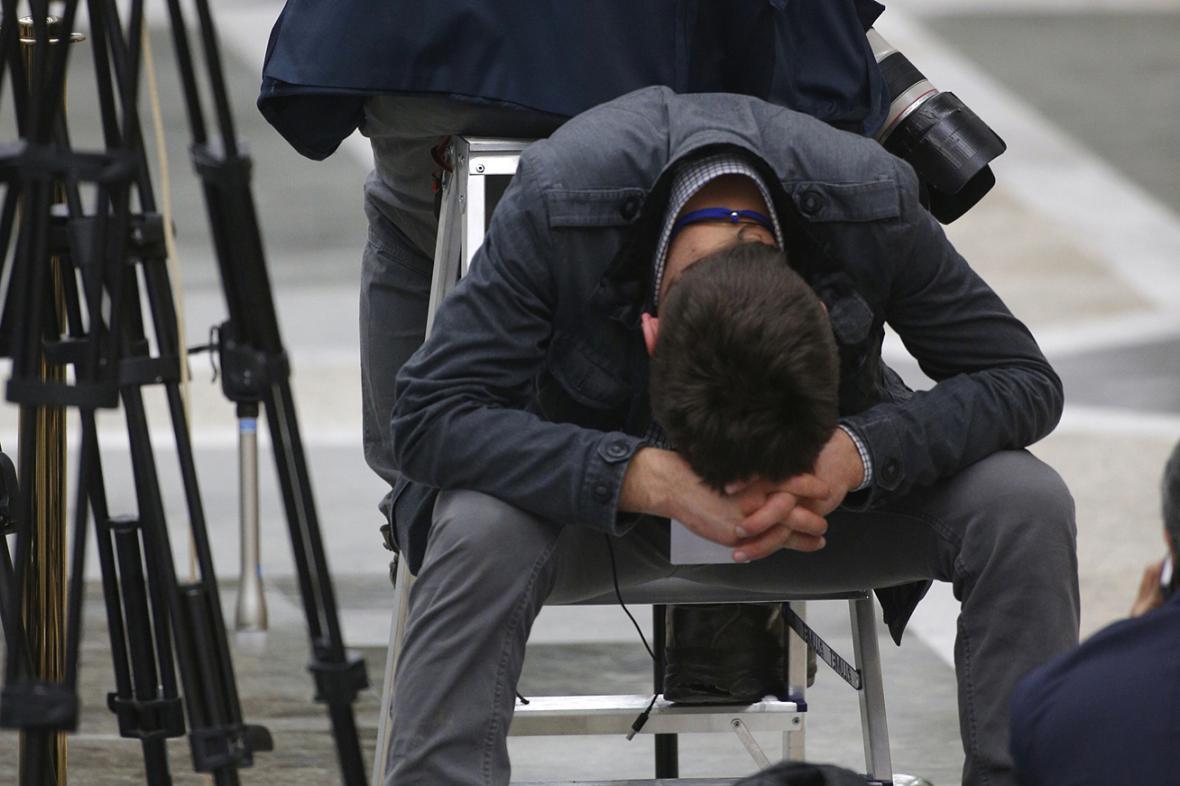 Novináři čekají na výsledek minského summitu