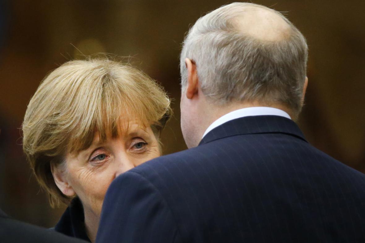 Angela Merkelová a Alexandr Lukašenko