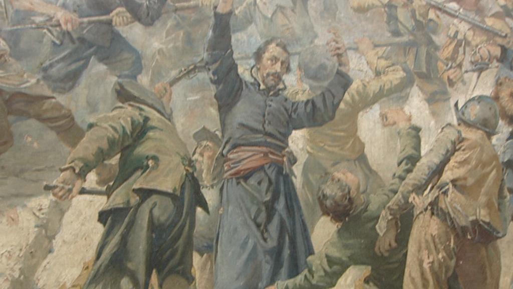 Jezuita Plachý - detail obrazu