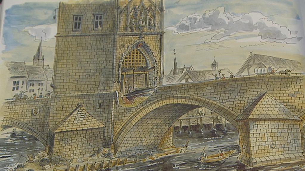Karlův most na dobovém zobrazení