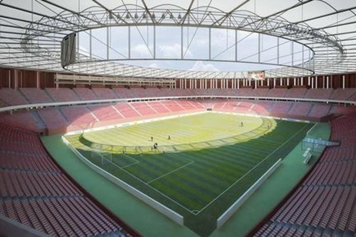 Vizualizace rekonstrukce stadionu Za Lužánkami (2008)