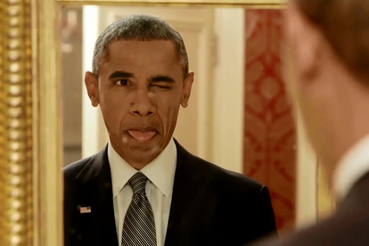 Barack Obama se legrace nebojí