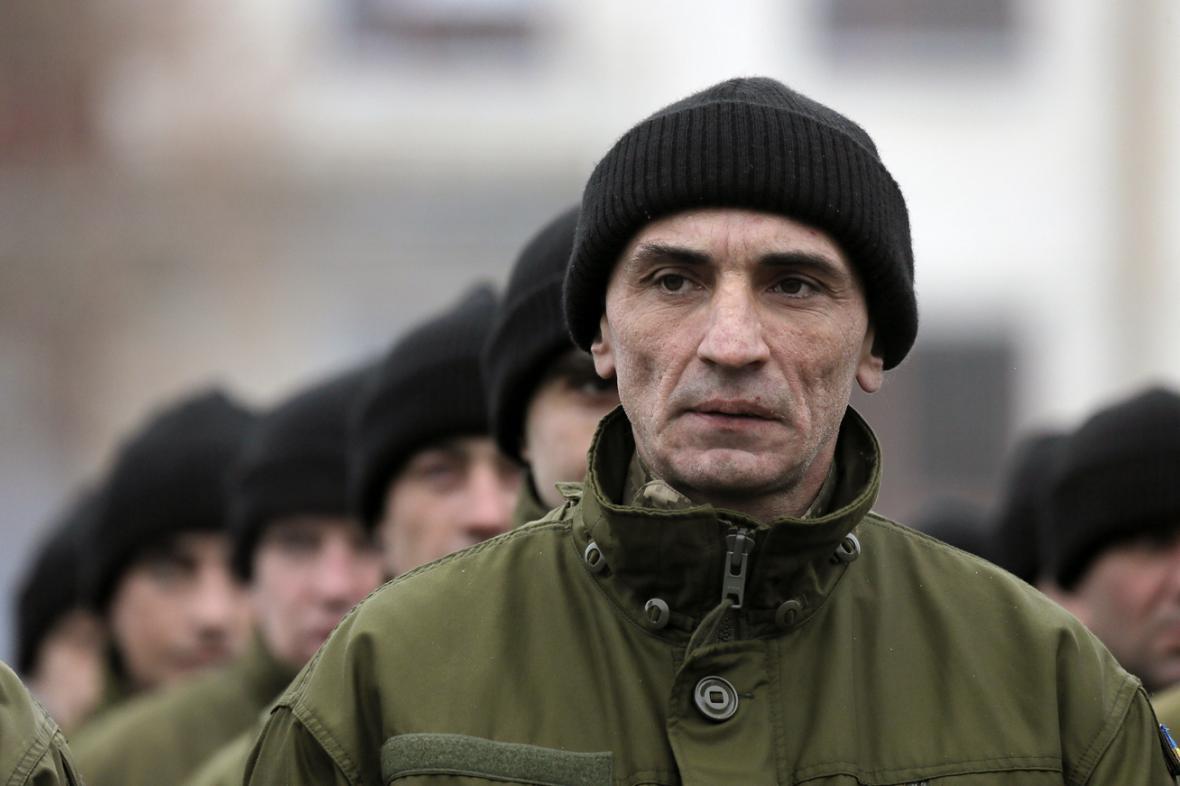 Nově mobilizovaní ukrajinští vojáci