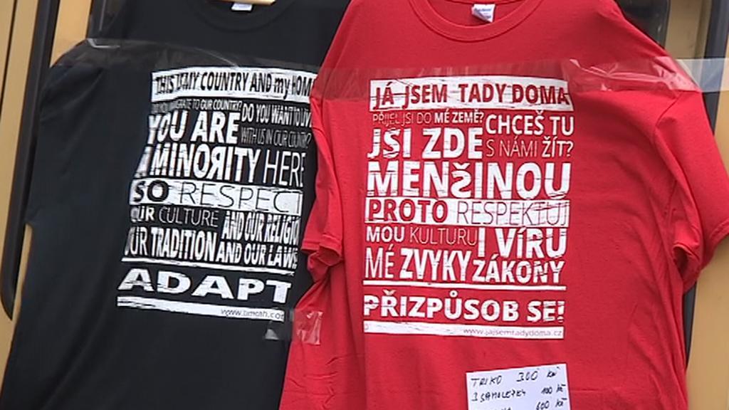 Protiislámské shromáždění na Moravském náměstí v Brně