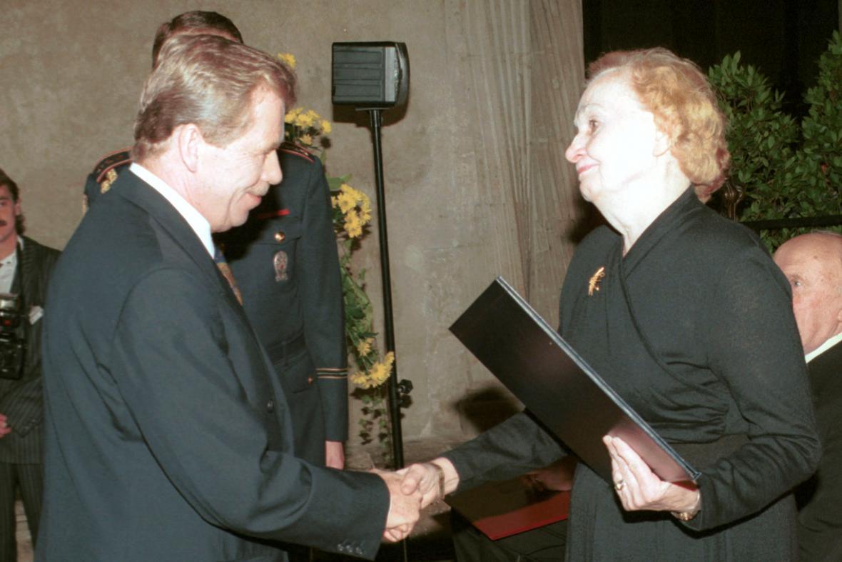 Václa Havel a Olga Hrubá