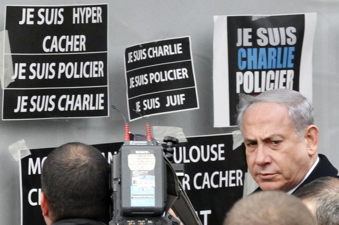 Benjamin Netanjahu v Paříži