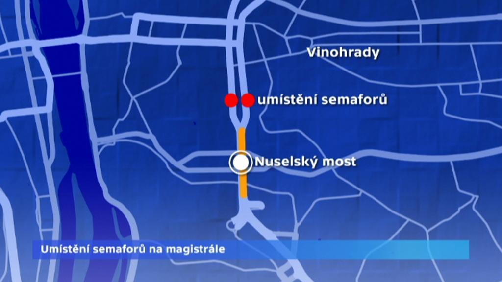 Umístění nových semaforů na magistrále