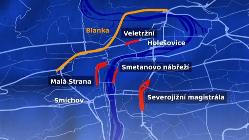 Místa, kde by se mohla doprava regulovat
