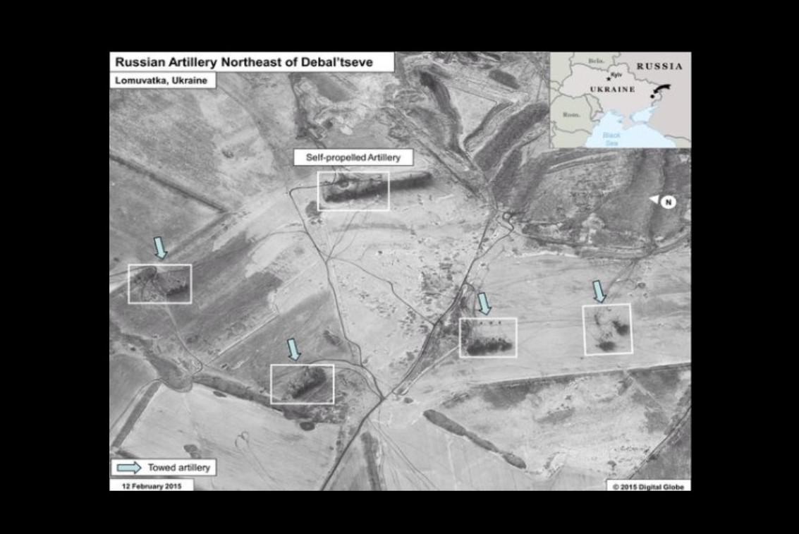 Satelitní snímky - ruská technika na Ukrajině