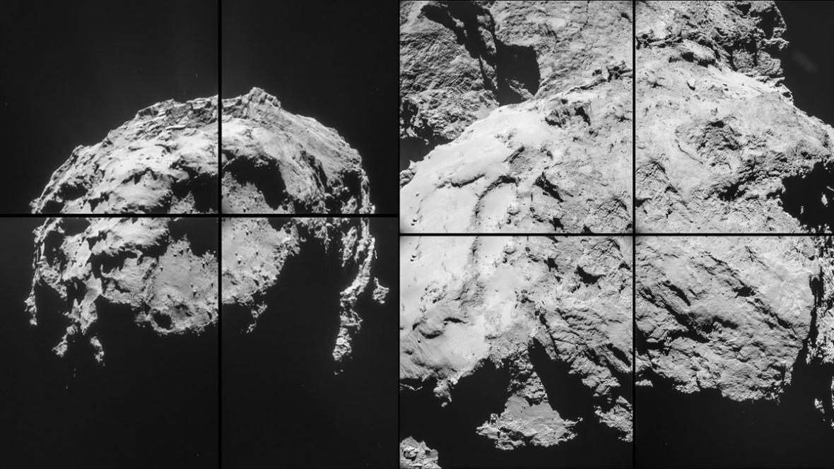 Rosetta poslala snímky komety Churyumov-Gerasimenko