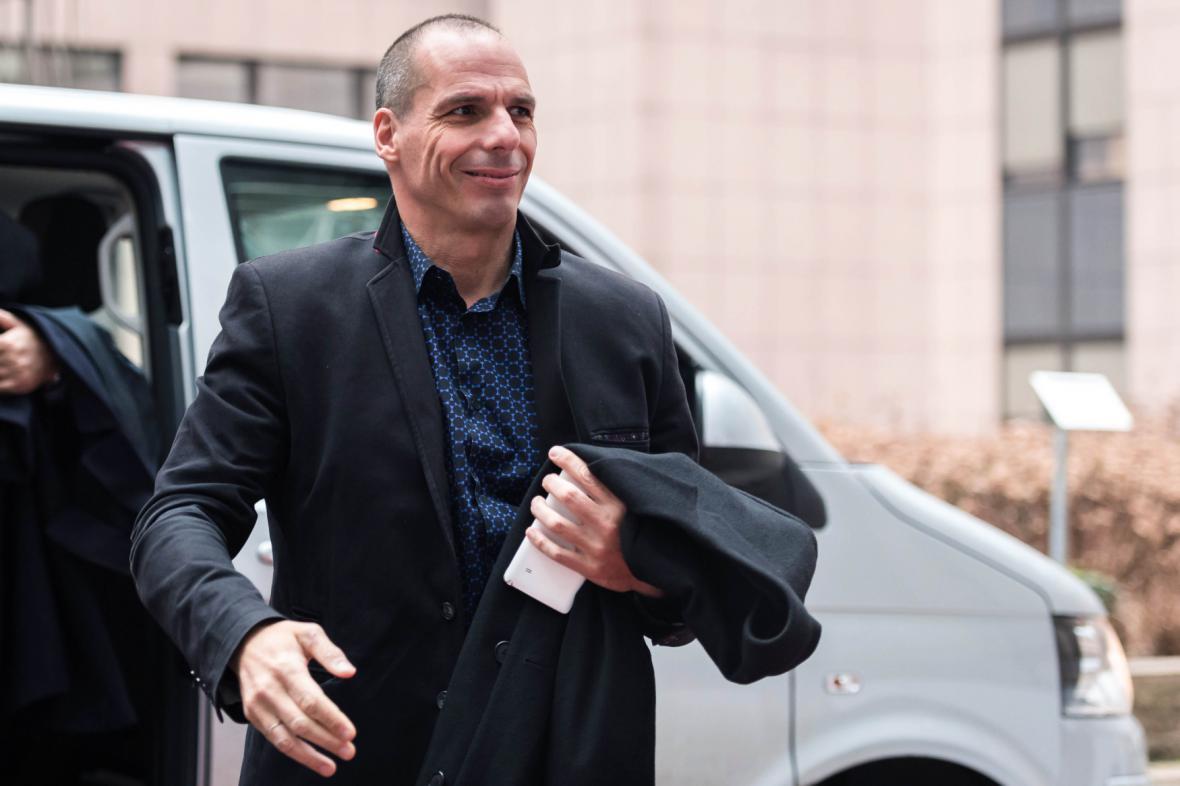 Řecký ministr financí Janis Varufakis přijíždí na jednání euroskupiny