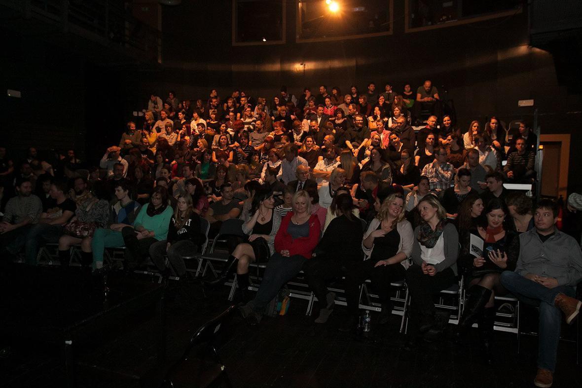 Publikum v divadle na ústeckém Střekově