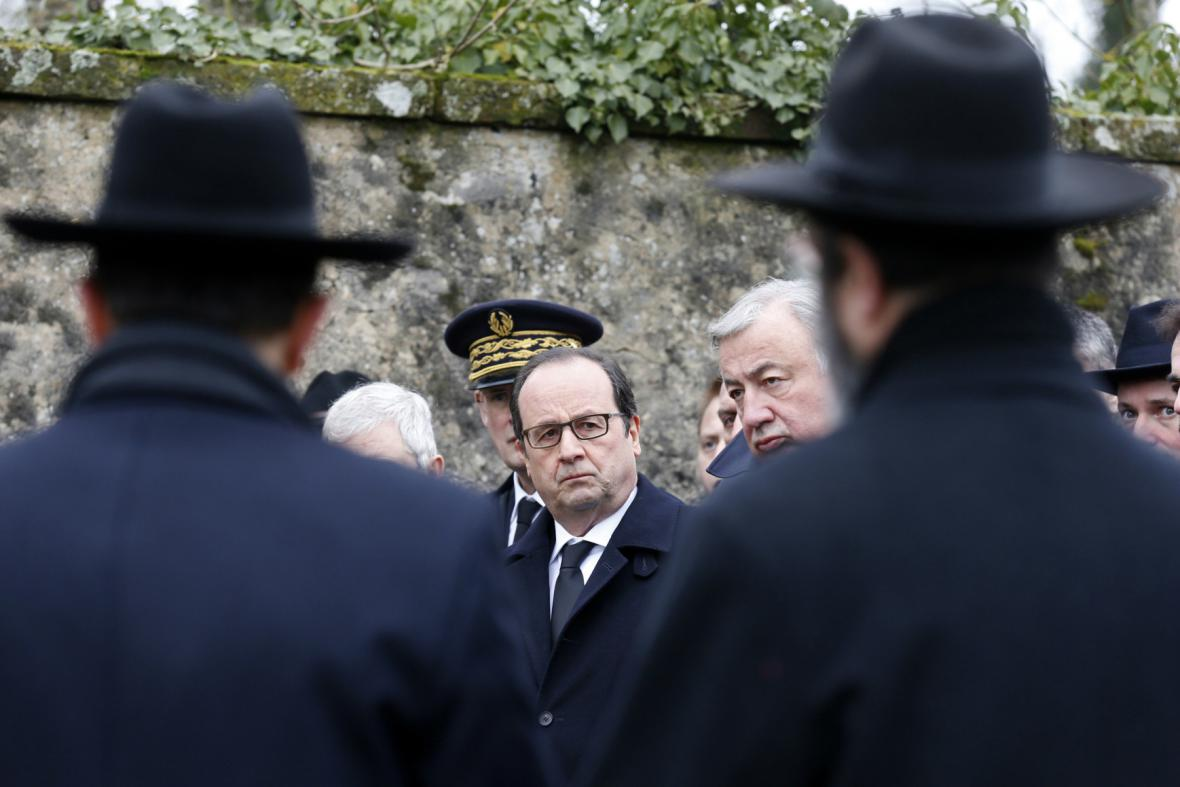 Francois Hollande ujistil francouzské Židy, že je země ochrání