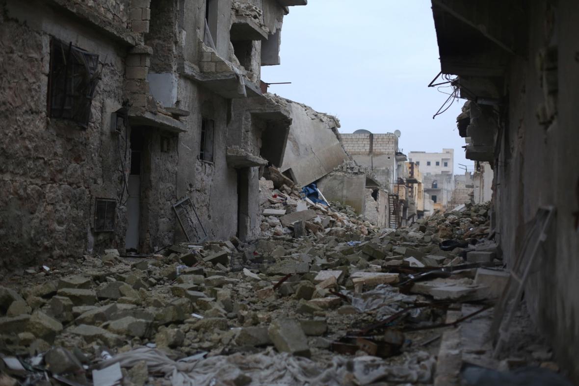 Ostřelované Aleppo