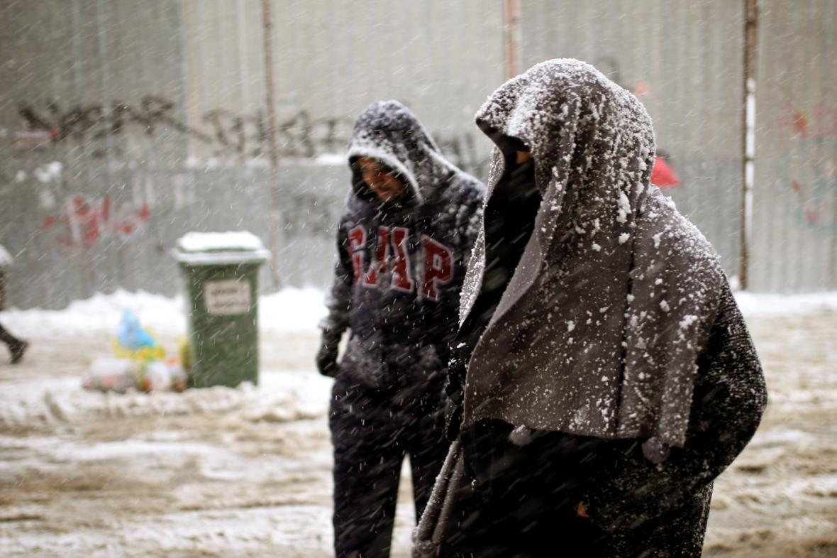 Sníh v Istanbulu