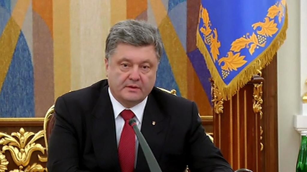 Petro Porošenko v televizním vystoupení po pádu Debalceve