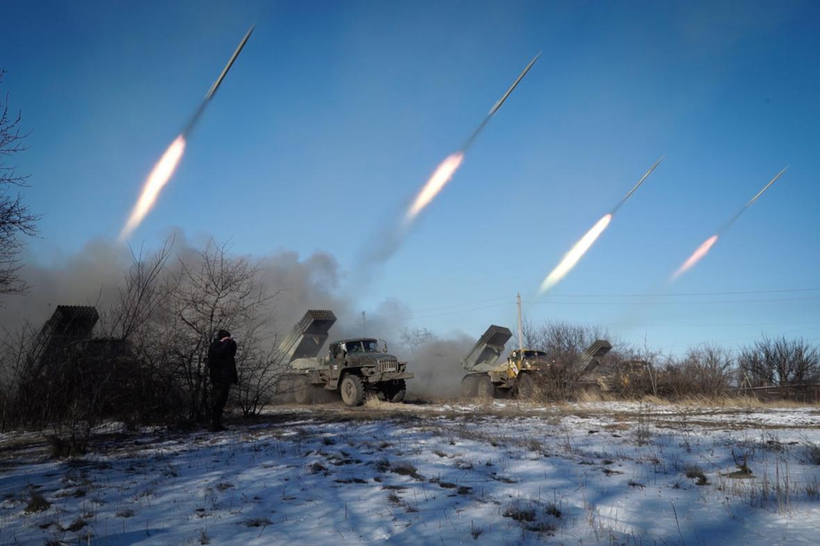 Separatisté odstřelují rakety ze systému Grad