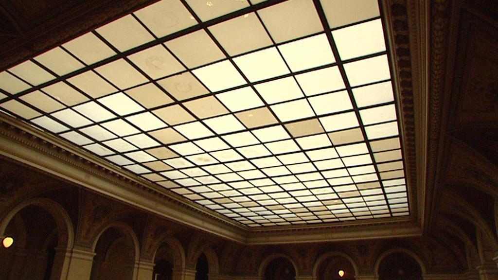 Prosklený strop v Národním muzeu
