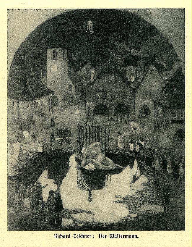 Richard Teschner / Vodník, před 1906
