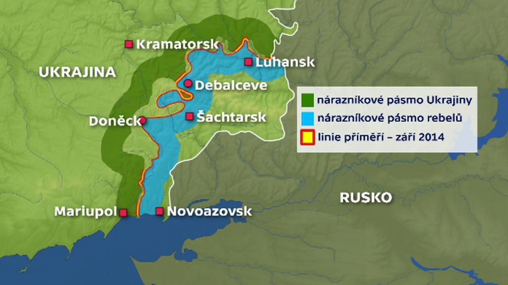 Mapa konfliktu na Ukrajině