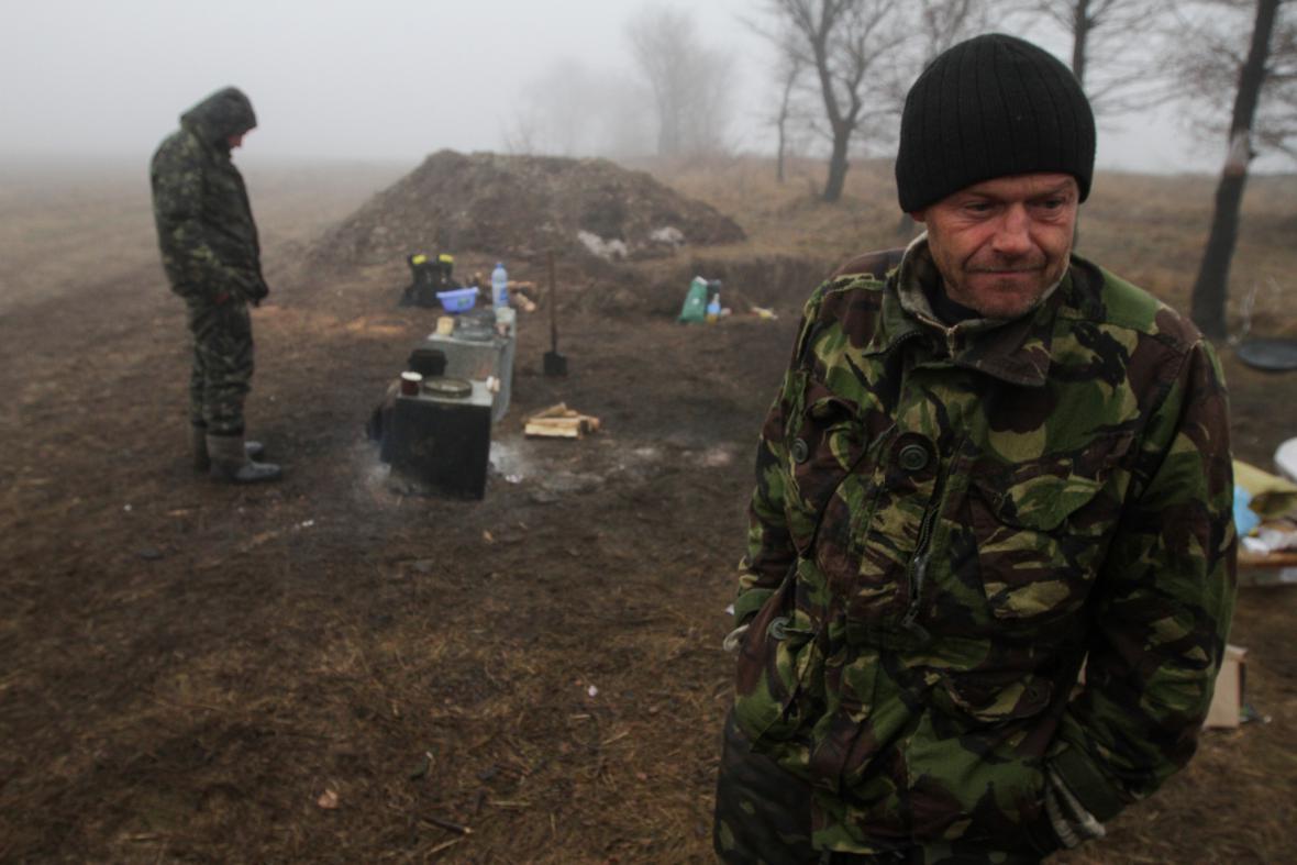 Ukrajinští vojáci v Donbasu