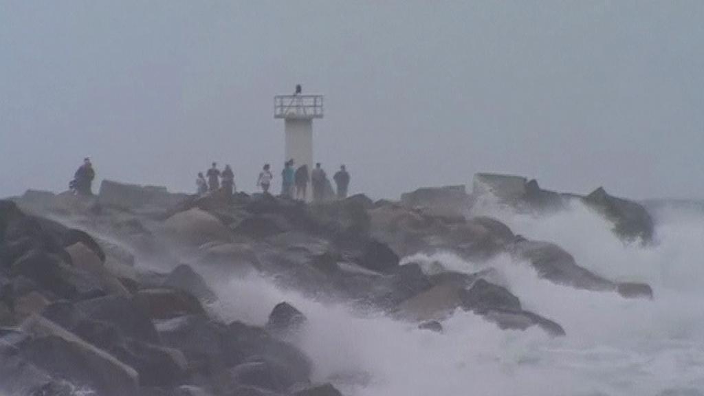 Rozbouřené moře v Austrálii