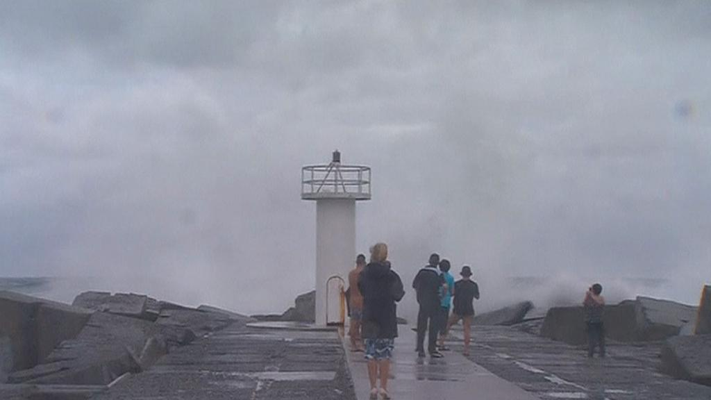 Bouře na pobřeží Austrálie