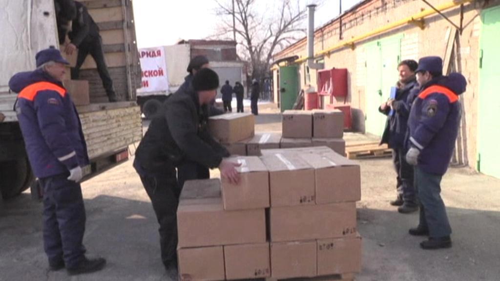 Na Ukrajinu dorazil další humanitární konvoj z Ruska