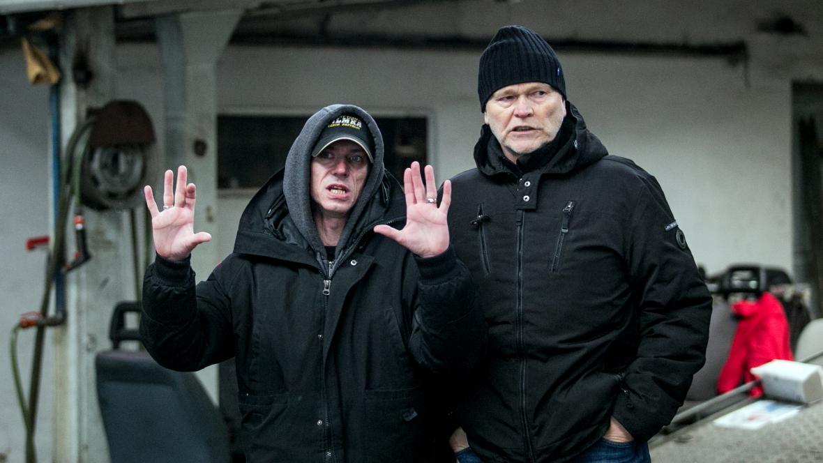 Jiří Strach s kameramanem Martinem Šecem