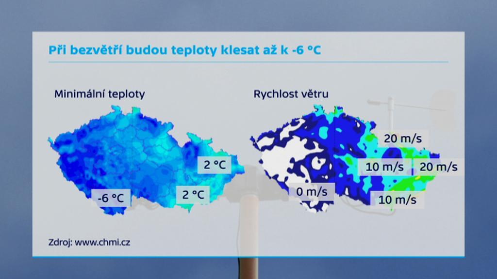 Dnešní počasí v ČR