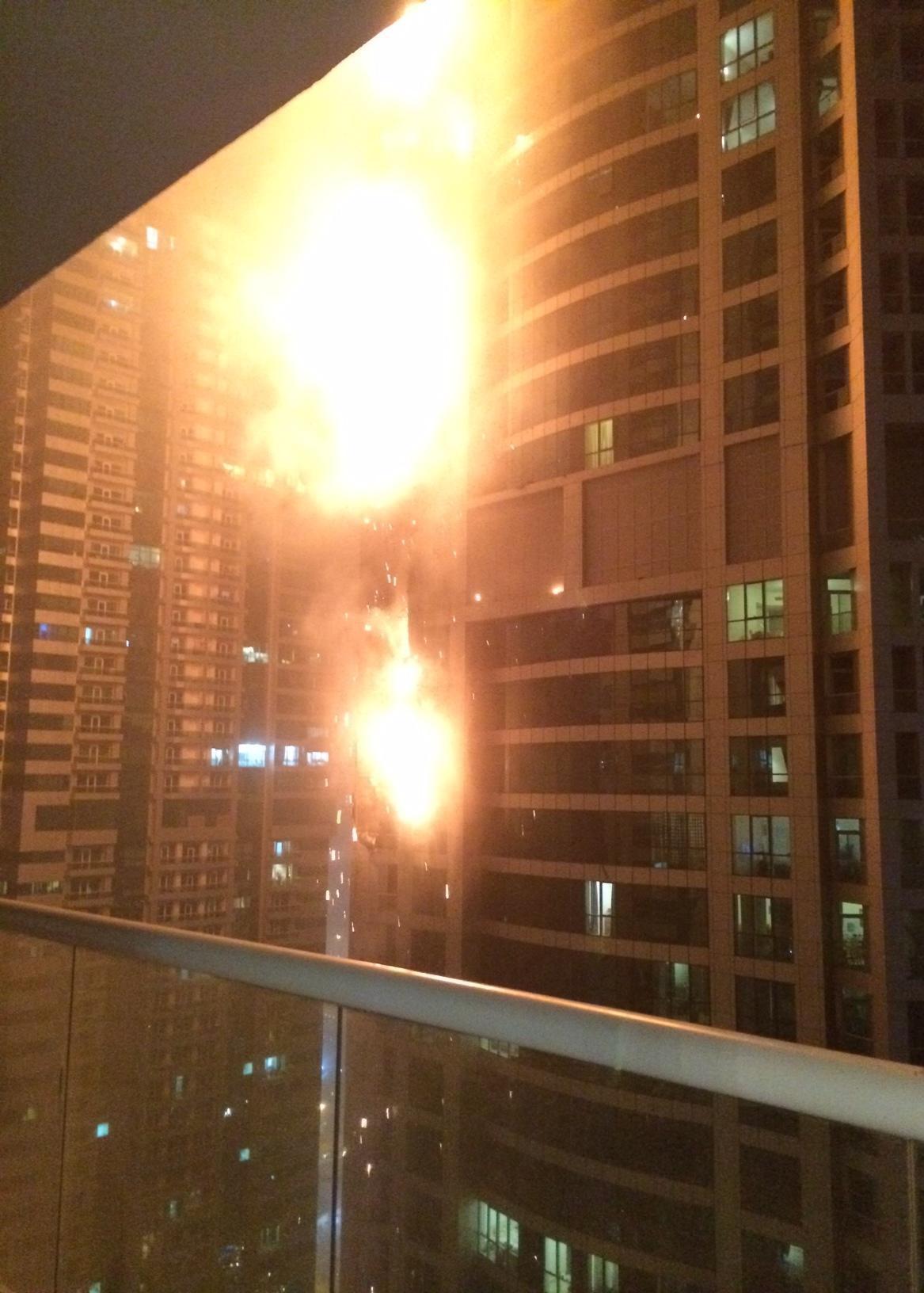 Hořící mrakodrap The Torch