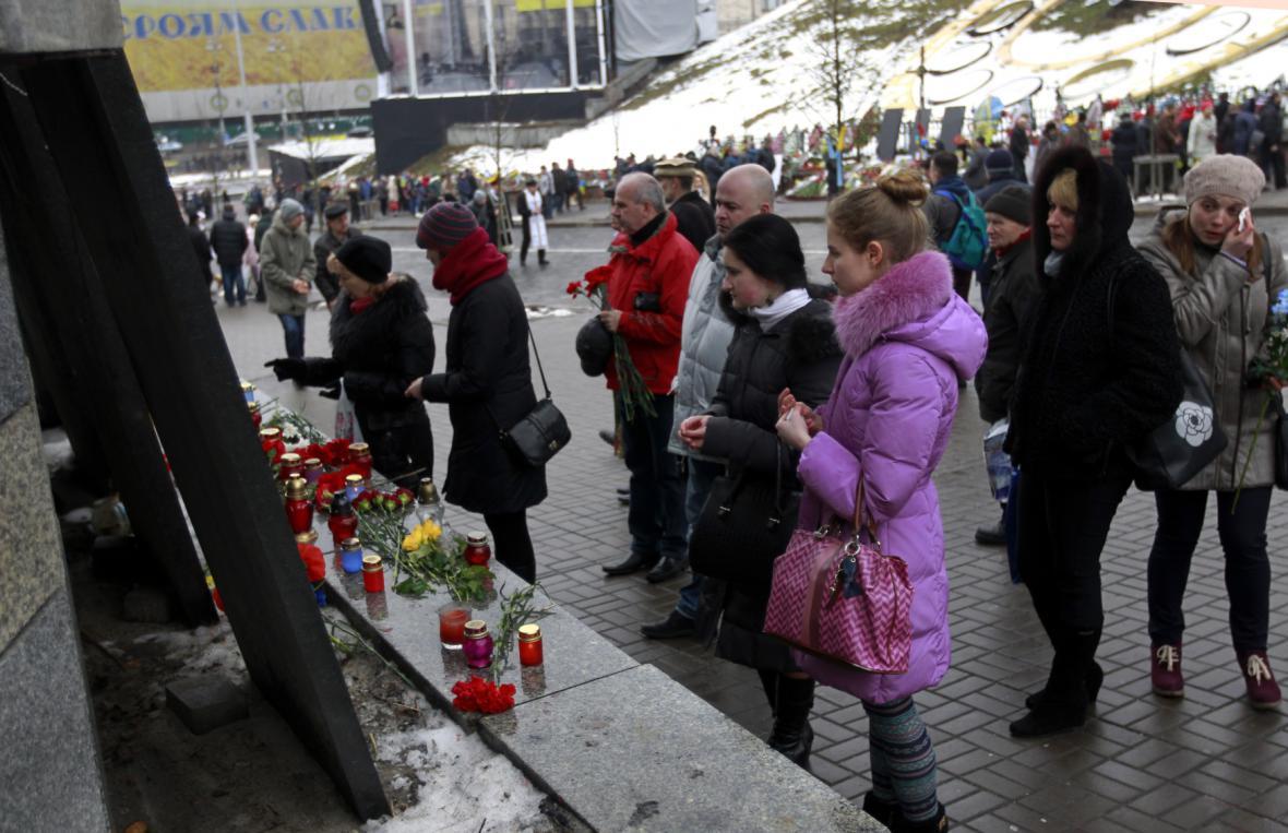 Pieta v centru Kyjeva