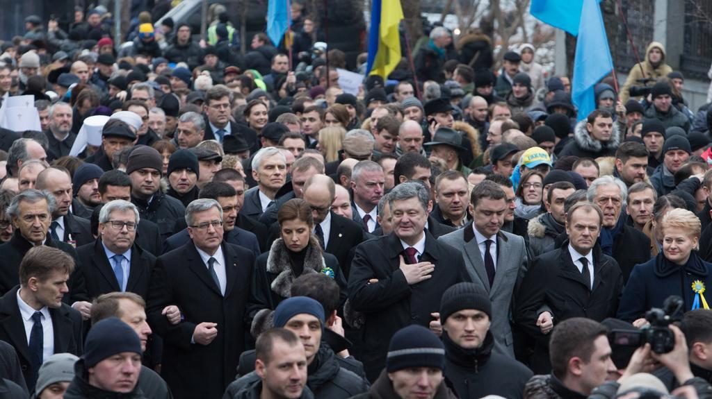 Tzv. Pochod důstojnosti v centru Kyjeva