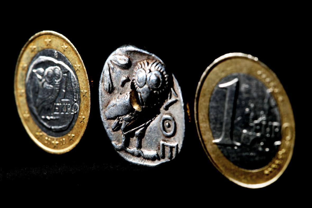 Řecké euro a drachma