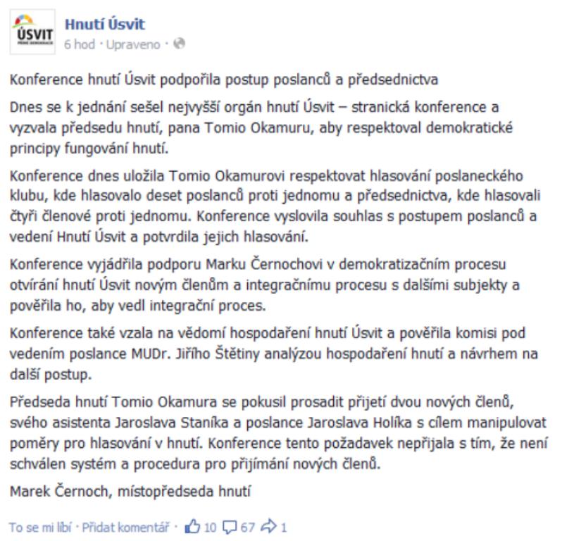 Marek Černoch na facebooku
