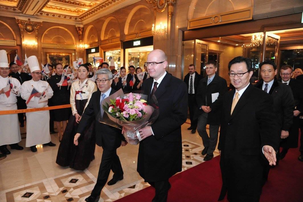 Premiér Bohuslav Sobotka na návštěvě Jižní Koreje