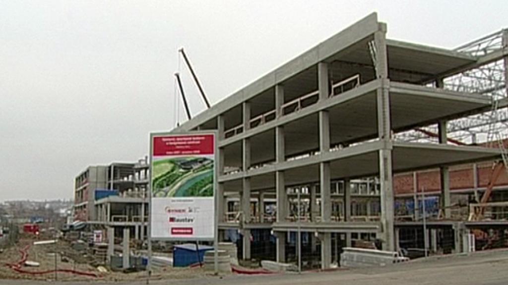 Stavba KV Arény - archivní snímek