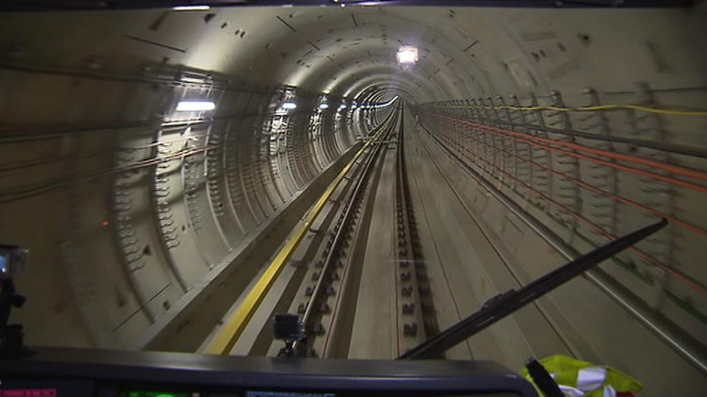 První jízda metrem v novém úseku