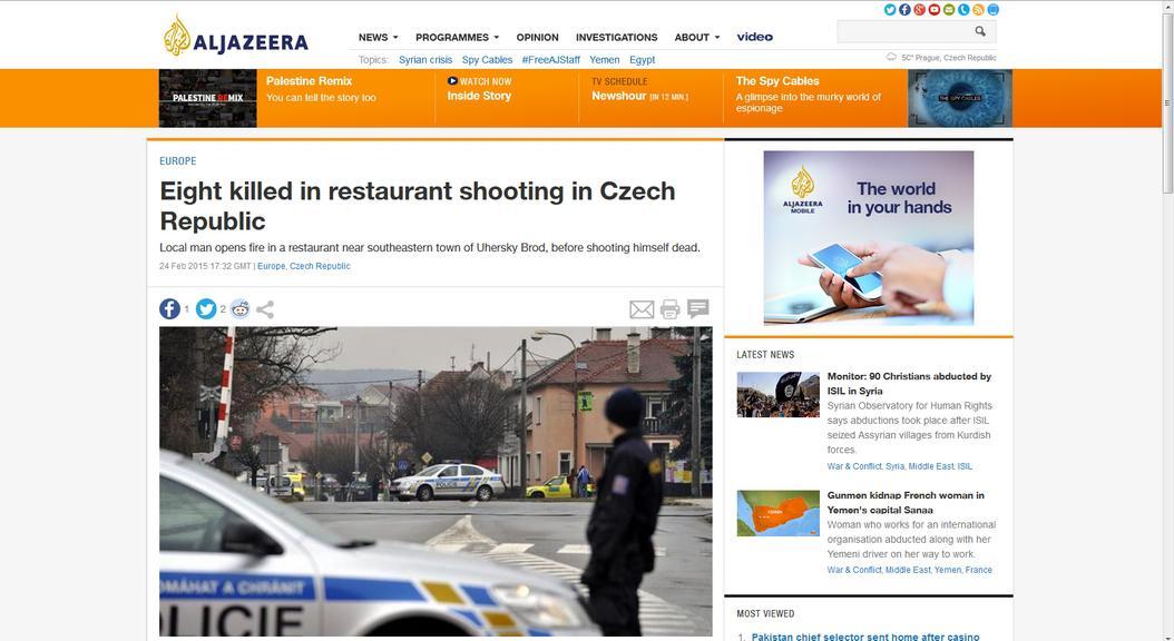 Web televizní stanice Al-Džazíra