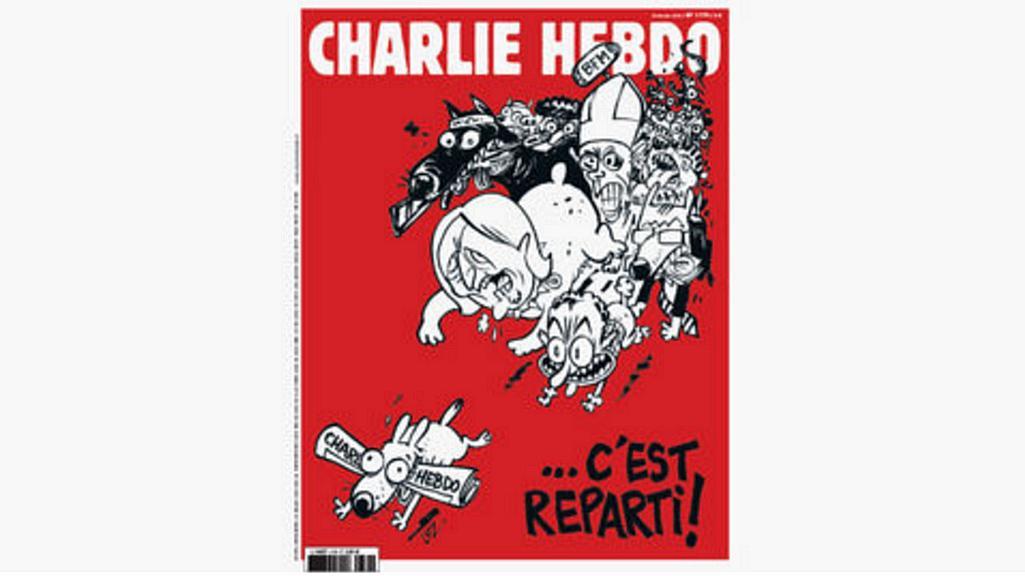 Obálka nového čísla Charlie Hebdo