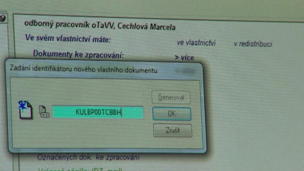 Zanesení smlouvy do počítačového systému trvá asi 5 minut