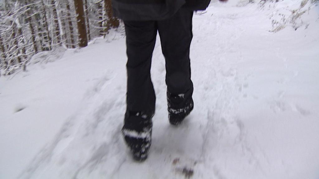 K chatě Bumbálka se musí jít pěšky a do kopce asi 25 minut