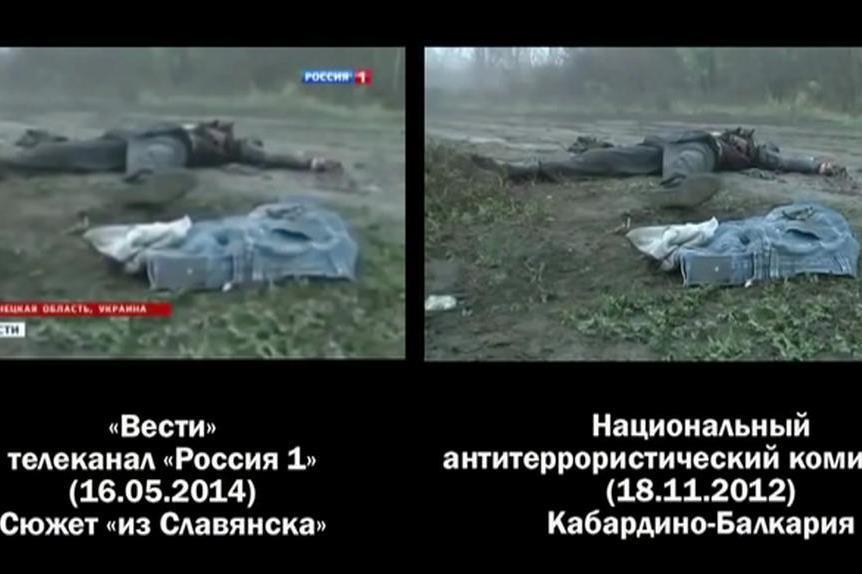 Příklad propagandy v konfliktu na Ukrajině