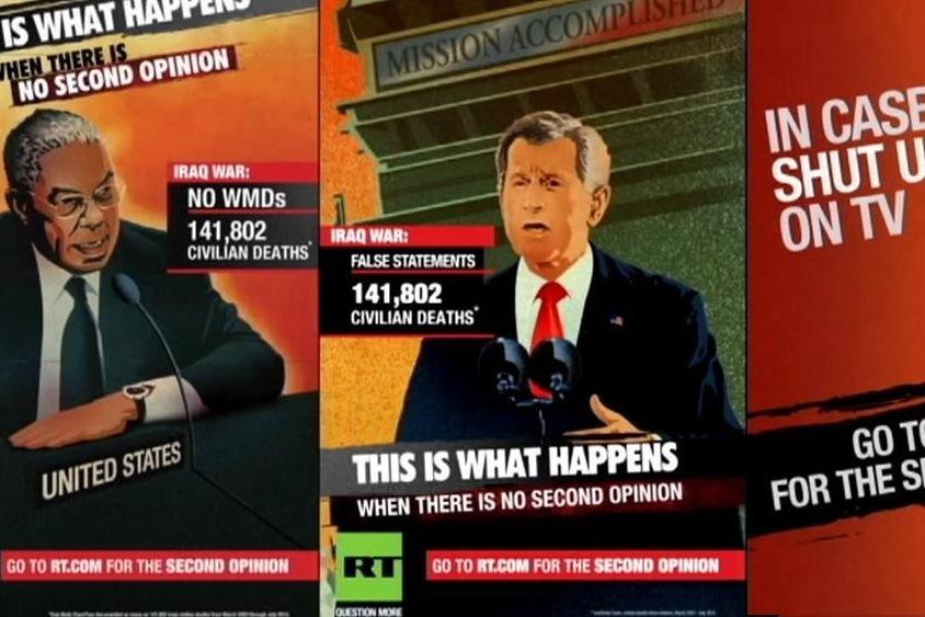 Washingtonské poutače lákající ke sledování Russia Today