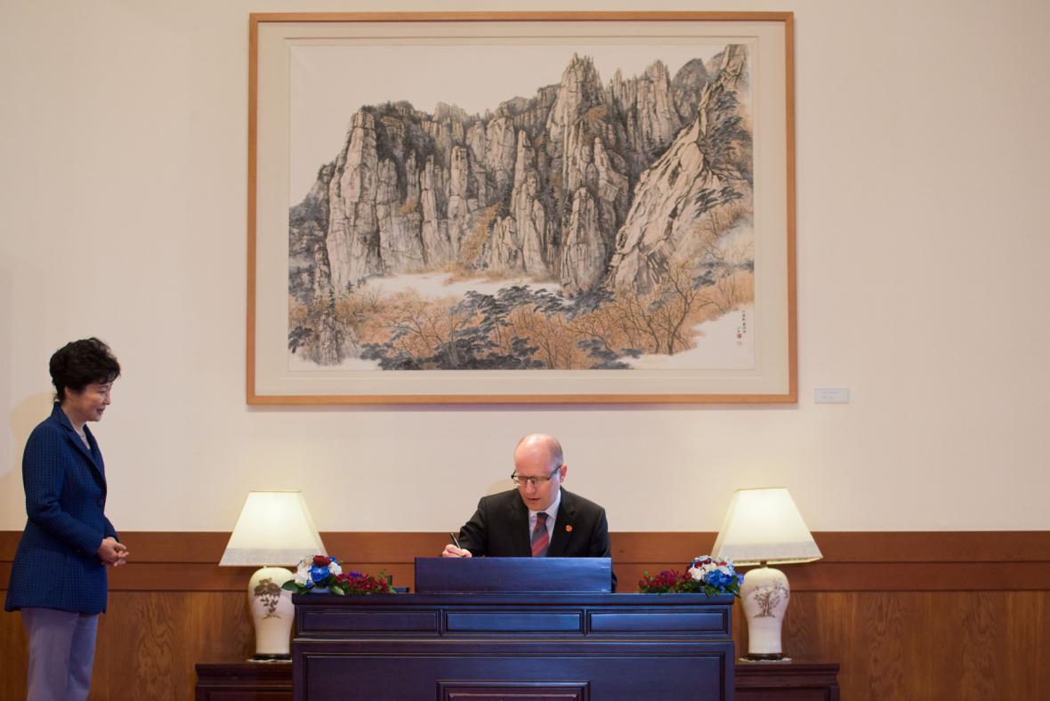 Premiér Bohuslav Sobotka na návštěvě v Jižní Koreji
